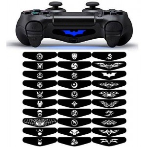 eXtremeRate Light Bar Decal Stickers Set of 30 Different Pcs for PS4 Playstation 4 Controller - Mix Stickers