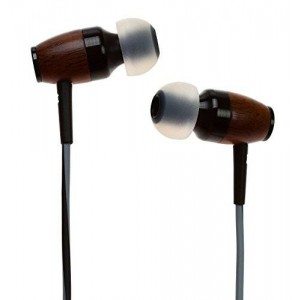 Symphonized DRM Premium Genuine Wood In-ear Noise-isolating Headphones with Mic (Black/Gray)