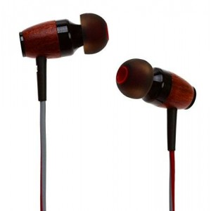 Symphonized DRM Premium Genuine Wood In-ear Noise-isolating Headphones with Mic (Red/Gray)