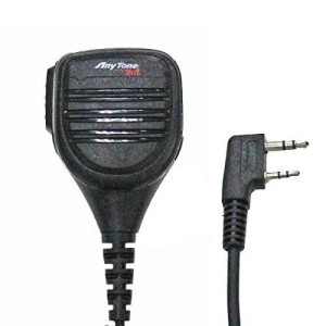 AnyTone Tech BaoFeng QHM22 Platinum Series IP54 Rainproof Shoulder Speaker Mic for BaoFeng, AnyTone, Kenwood Radios