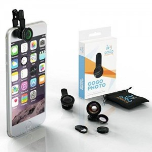 [Voted #1 iPhone Camera Lens Kit] GoGo Robots - Beautiful and Artistic Mobile Photos with Attachments for iPhone
