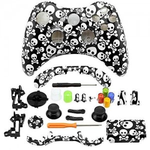 Super Custom Replacement Wireless Game Controller Shell Case Cover Kit for Xbox 360 - Includes Button Set, Torx and Phillips Head Screwdrivers