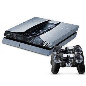 Arrela PS4 Console and Controller Decal Sticker Skin Fashionable Delicate Non-slip Surface for PlayStation 4 Batman-Arkham