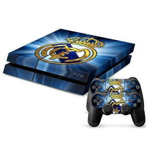 Arrela PS4 Console and Controller Decal Sticker Skin Fashionable Delicate Non-slip Surface for PlayStation 4 Real Madrid