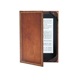 "KleverCase Book Cover Case for ALL 6"" Amazon kindle ereader including 2015 Paperwhite, Voyage and Touch Screen - My Book Vintage Hardback"