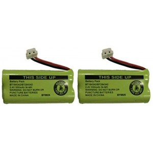 JustGreatDealz Battery BT184342 / BT284342 for ATandT Vtech GE RCA and Clarity Phones 2.4V 550mAh Ni-MH (2-Pack)