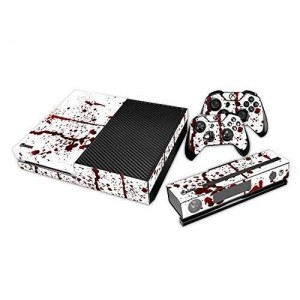 NDAD New Unique Protective Decals Stickers Skin for Microsoft Xbox One Bloody Red White