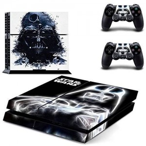 eXtremeRate Star War Black Knight Sticker Decal Skin for Dualshock 4 PS4 Console Controller