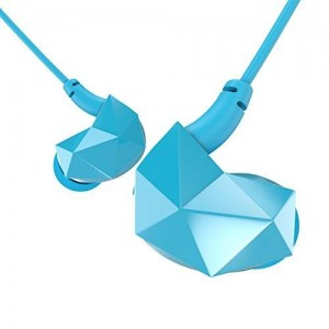Sound Intone E6 Sports In-Ear Headphones Noise Isolating Earphones with Memory Wire and In-line Microphone and Remote Volume Control (Blue)