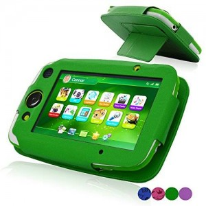 LeapPad Platinum Case, ACdream PU Leather Cover Case for LeapFrog LeapPad Platinum Kids Learning Tablet (NOT FIT LeapPad3) , Green