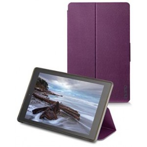 Incipio Clarion Folio Fire HD 10 Case (5th Generation - 2015 release), Plum Purple