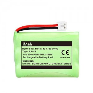 1-Pack iMah Ryme B13 89-1323-00-00 Cordless Phone Battery for Vtech 27910 I6725 Motorola SD-7501 RadioShack 23-959