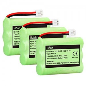 3-Pack iMah Ryme B13 89-1323-00-00 Cordless Phone Battery for Vtech 27910 I6725 Motorola SD-7501 RadioShack 23-959