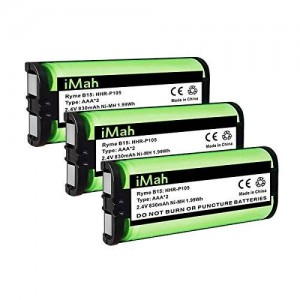 3-Pack iMah Ryme B15 HHR-P105 Cordless Phone Battery for Panasonic KX-TG5777 KX-TGA242 KX-TGA571 HHR-P105A (TYPE 31)