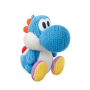 Nintendo Light Blue Yarn Yoshi Amiibo (Yoshi's Woolly World Series)