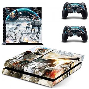 Beyone Vinyl Decal Protective Skin Cover Sticker for Sony PS4 Console And 2 Dualshock Controllers - Star Wars: Battle Front