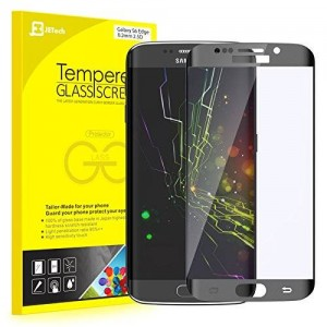 """S6 Edge Screen Protector, JETech 0.2mm Thinnest Full Screen 5.1"""" Premium Tempered Glass Screen Protector Film for Samsung Galaxy S6 Edge (Black)"""