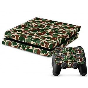 CloudSmart PS4 Designer Skin for Sony Playstation 4 Console System Plus Two(2) Decals For: PS4 Dualshock Controller - Camouflage