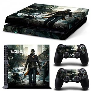 CloudSmart PS4 Designer Skin for Sony Playstation 4 Console System Plus Two(2) Decals For: PS4 Dualshock Controller - Watch Gogs