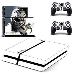 Beyone Vinyl Decal Protective Skin Cover Sticker for Sony PS4 Console And 2 Dualshock Controllers - Metal Gear Solid V: Ground Zeroes