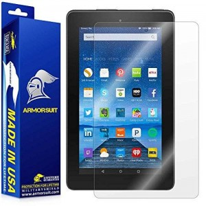 "ArmorSuit MilitaryShield - Amazon Fire 7"" Screen Protector (2015 Released) Anti-Bubble Ultra HD and Touch Responsive + Lifetime Replacement"