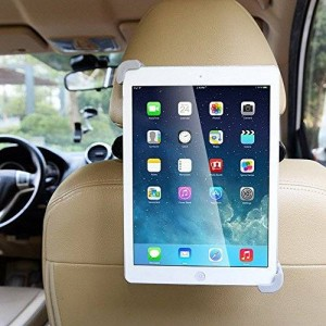 "BESTEK Car Back Seat Headrest Mount Holder with 360 Degree Adjustable Rotating for iPad/iPad Air/iPad Mini and Other 7"" to 11"" Tablets"