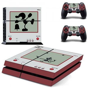 Beyone Vinyl Decal Protective Skin Cover Sticker for Sony PS4 Console And 2 Dualshock Controllers - Game and Watch