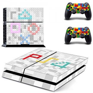 Beyone Vinyl Decal Protective Skin Cover Sticker for Sony PS4 Console And 2 Dualshock Controllers - Tetris