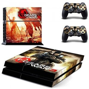 CloudSmart PS4 Designer Skin Decal for PlayStation 4 Console System and PS4 Wireless Dualshock Controller - Gears of Wars 3