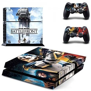 CloudSmart PS4 Designer Skin Decal for PlayStation 4 Console System and PS4 Wireless Dualshock Controller - Star Wars: Battle Front