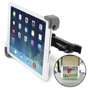 "Okra Universal 360° Degree Rotating Tablet Car Headrest Grip Mount for iPad, Galaxy, and all Tablets up to 11"" (New 2015 Version) [Retail Packaging]"