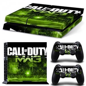 Beyone Vinyl Decal Protective Skin Cover Sticker for Sony PS4 Console And 2 Dualshock Controllers - Call of Duty