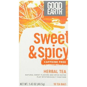 Good Earth Sweet and Spicy Caffeine Free Herbal Tea, 18 Count Tea Bags (Pack of 6)