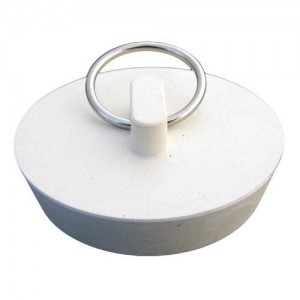 LASCO 02-3213 White Rubber Hollow Stopper for 1-3/4-Inch Drain Openings