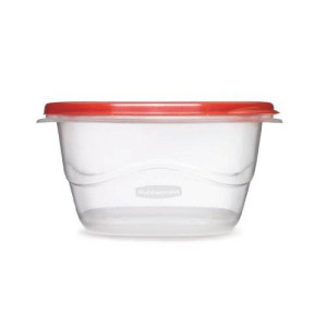 Rubbermaid TakeAlongs Food Storage Container, Square, Deep, Set of 2, 5.2-cup, Chili (FG7F68RETCHIL)