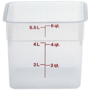 Cambro (6SFSPP190) 6 qt Polypropylene Food Storage Container - CamSquare