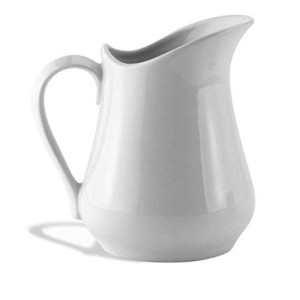 HIC Harold Import Co. HIC Classic Porcelain Pitcher and Creamer, White, 4-Ounce (1, A)