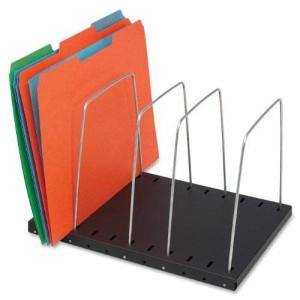 STEELMASTER Adjustable 4-Pocket Wire Organizer, 9.65L x 8.07W x .71H Inches, Black (264404)