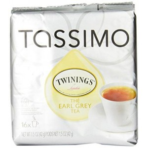 Twinings Earl Grey Tea, 16-Count T-Discs for Tassimo Coffeemakers (Pack of 2)