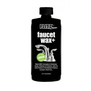 Flitz PW 02685 Off White Faucet Waxx Plus, 7.6 oz. Bottle