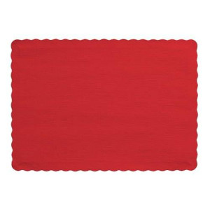 Creative Converting 50 Count Touch of Color Paper Placemats, Classic Red