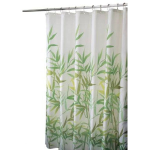 InterDesign Anzu Fabric Shower Curtain, Green, 72 x 72-Inch