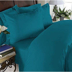 Elegant Comfort 4 Piece 1500 Thread Count Luxury Silky Soft Egyptian Quality Coziest Sheet Set, Queen, Turquoise