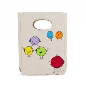 FLUF CHIRP! Lunch Bag, 11-Inch L by 8-Inch W by 4-1/2-Inch D