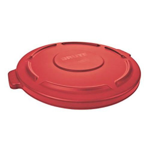 Rubbermaid Commercial Products Rubbermaid Commercial FG263100RED Brute HDPE Lid for Round Waste Container, 32-gallon, Red