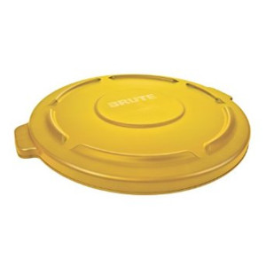 Rubbermaid Commercial Products Rubbermaid Commercial FG263100YEL Brute HDPE Lid for Round Waste Container, 32-gallon, Yellow
