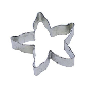 "CybrTrayd RandM Starfish 4"" Cookie Cutter in Durable, Economical, Tinplated Steel"