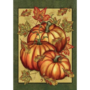Toland Home Garden Pumpkin Spice 28 x 40-Inch Decorative USA-Produced House Flag