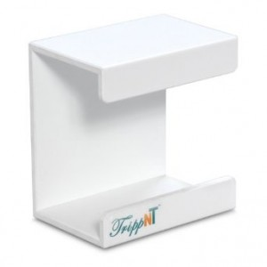 """TrippNT 50008 White PVC Small Kimwipe Holder with Double Faced Mounting Tape, 3.5"""" Length x 5"""" Width x 5"""" Height"""