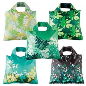 Envirosax Botanica Reusable Shopping Bags (Set of 5), Multicolor